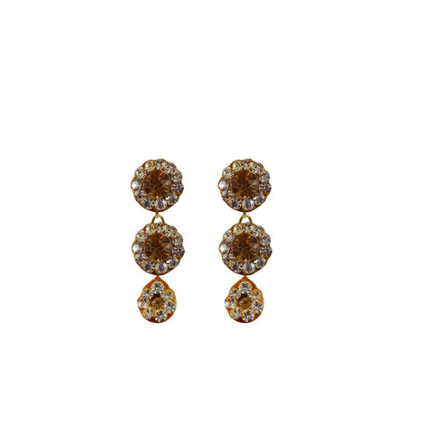 Multi Color Stone Stud-Handmade Lac Pure Lakh Earring - ear498