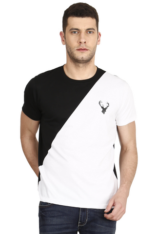 Black Color Cotton Mens T-Shirt - elk-1800-1