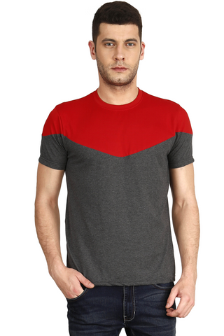 Charcole Color Cotton Mens T-Shirt - elk-1800-9