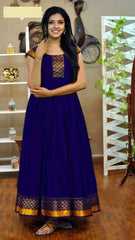 Buy Navy Blue Color Rayon Women's Stitched Gown