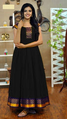 Buy Black Color Rayon Women's Stitched Gown