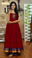 Buy Maroon Color Rayon Women's Stitched Gown