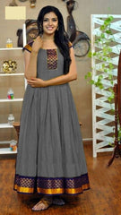 Buy Grey Color Rayon Women's Stitched Gown