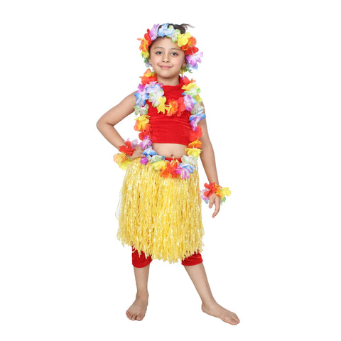 Red Color Cotton Blend Fancy Costume Dress  - goa girl-1