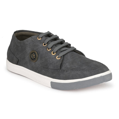 Grey Color Denim Men Shoe - greybakkal