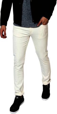 Halogen Slim Men's White Denim Jeans - hal38