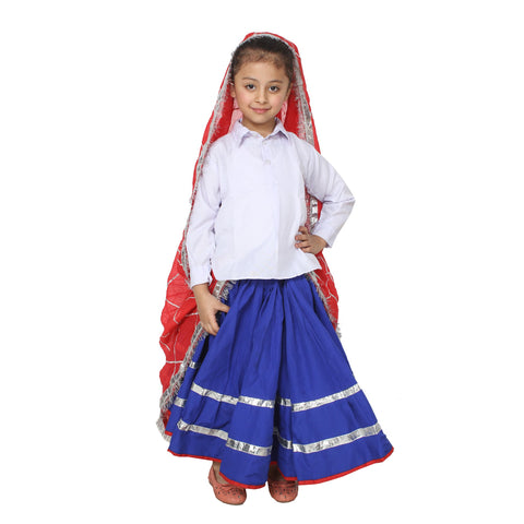 Multi Color Cotton Blend Fancy Costume Dress  - haryanvi girl-1