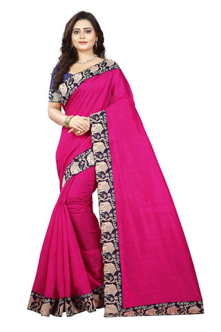 Pink Color Bhagalpuri Silk Saree - house-pink-1