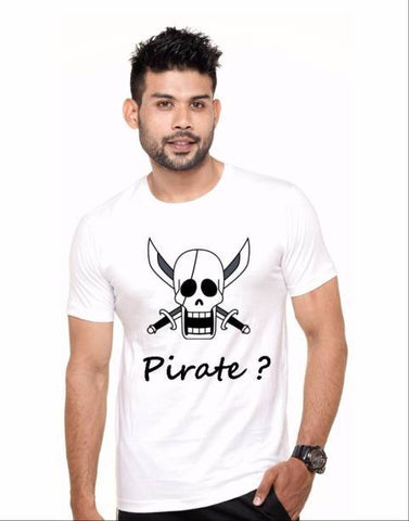 White Color Cotton Polyster Blend Men T-Shirt - image008