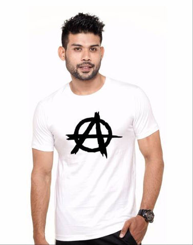 White Color Cotton Polyster Blend Men T-Shirt - image017