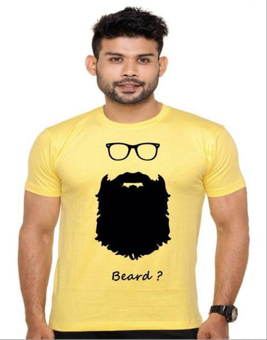 Yellow Color Cotton Polyster Blend Men T-Shirt - image032