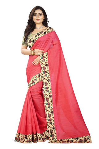 Peach Color Bhagalpuri Silk Saree - instruments-peach-1