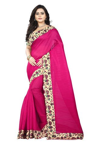 Pink Color Bhagalpuri Silk Saree - instruments-pink-1
