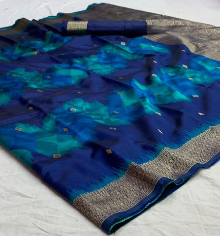 Blue Color Banarasi Silk  Saree - jnvs-466
