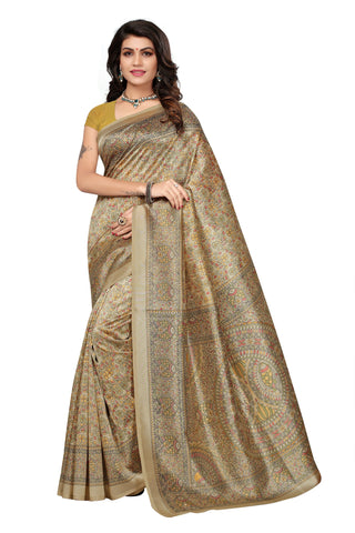 Multi Color Mysure Silk  Saree - k-22