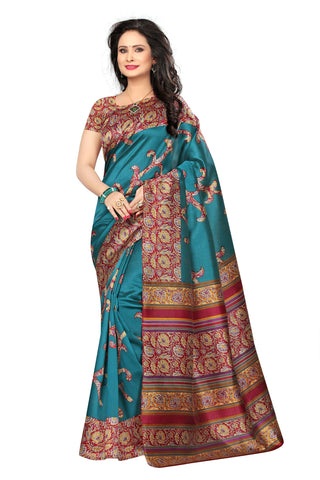 Multi Color Mysure Silk  Saree - k-37