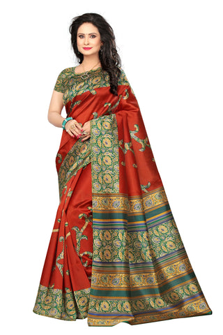 Multi Color Mysure Silk  Saree - k-39