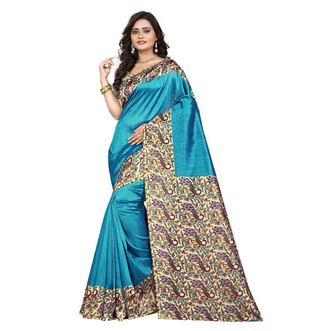Blue Color Art Silk Saree  - kalavati-blue