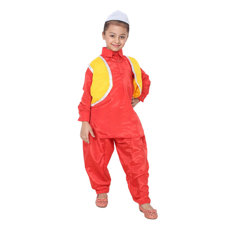 Red Color Cotton Blend Fancy Costume Dress  - kashmiri boy-1