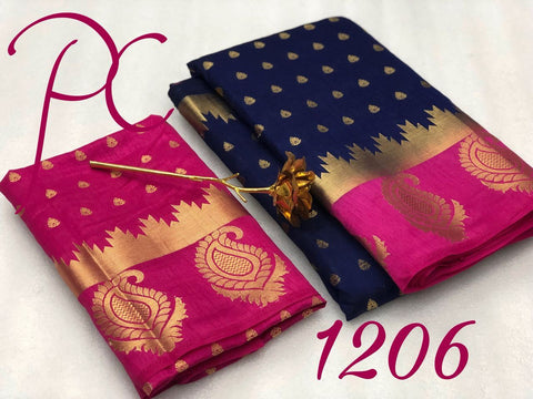 Navy Blue color  Tussar Silk   Saree - kls-1206-pink