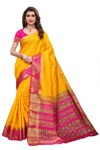 Yellow color  Tussar Silk   Saree - kls-kl-1049