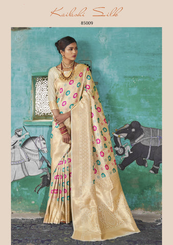Off White Color Blend Saree - KLSHIS85009
