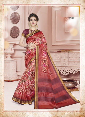 Multi Color Cotton Saree - KNKML1708