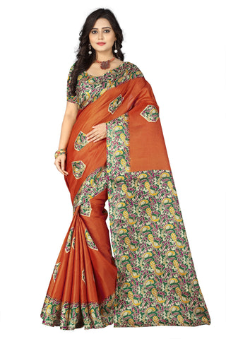 Orange Color  Silk Saree - ks-daya-orange