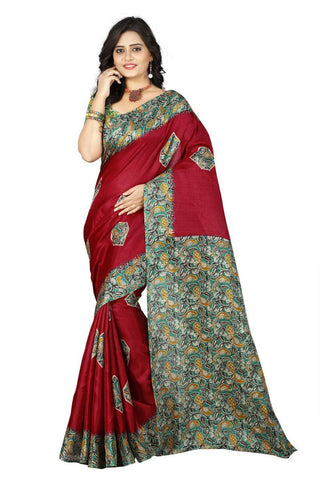 Red Color  Silk Saree - ks-daya-red