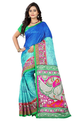 Blue Color Khadi Silk Saree - ks-race-blue