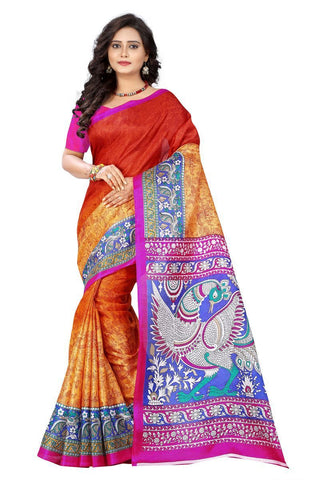 Orange Color  Silk Saree - ks-race-orange