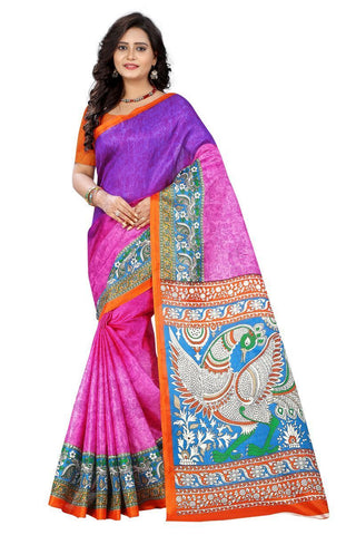 Pink Color  Silk Saree - ks-race-pink