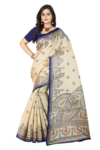Blue Color Khadi Silk Saree - ks-rani-blue