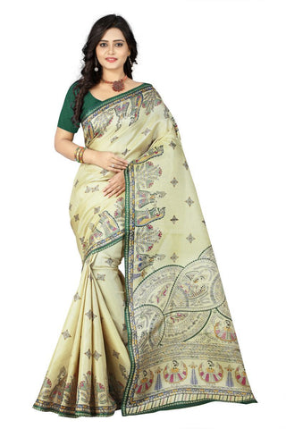 Green Color  Silk Saree - ks-rani-green