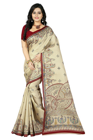 Red Color  Silk Saree - ks-rani-red