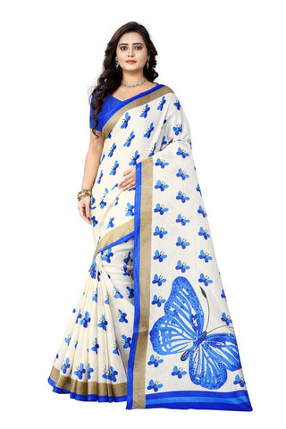 Blue Color Khadi Silk Saree - ks-titli-blue