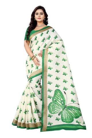 Green Color  Silk Saree - ks-titli-green