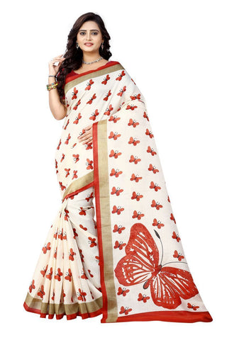 Red Color  Silk Saree - ks-titli-red