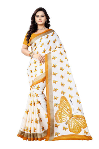 Yellow Color  Silk Saree - ks-titli-yellow