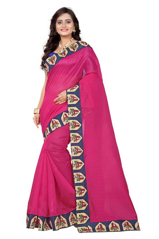 Pink Color Bhagalpuri Saree - lady-pink