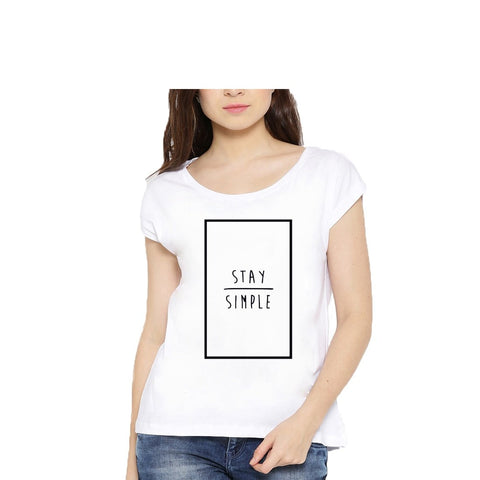 White Color Cotton Womens Tshirt - lady-white-190