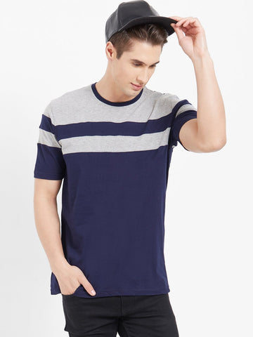 Navy Color Cotton Men T-Shirts-lexcorp-HS31LNG