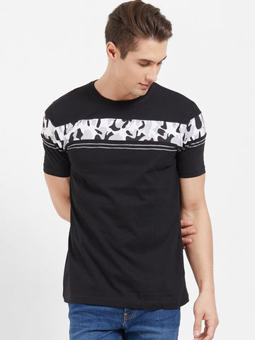 Black Color Cotton Men T-Shirts-lexcorp-HS32LBCB