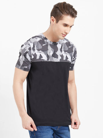 Black Color Cotton Men T-Shirts-lexcorp-HS33LBC