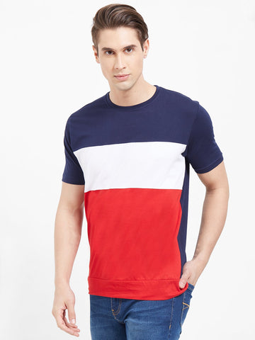 Multi Color Color Cotton Men T-Shirts-lexcorp-HS34LRWN
