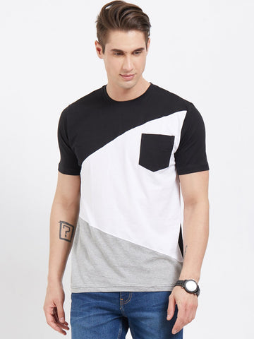 Multi Color Color Cotton Men T-Shirts-lexcorp-HS35LBWG