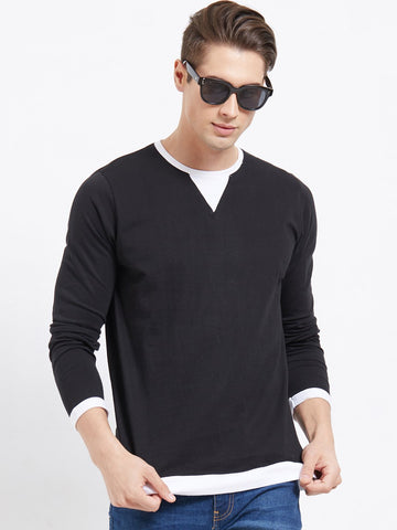 Black Color Cotton Men T-Shirts-lexcorp-L27B