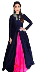 Buy Pink Color Satin SemiStitched Gown