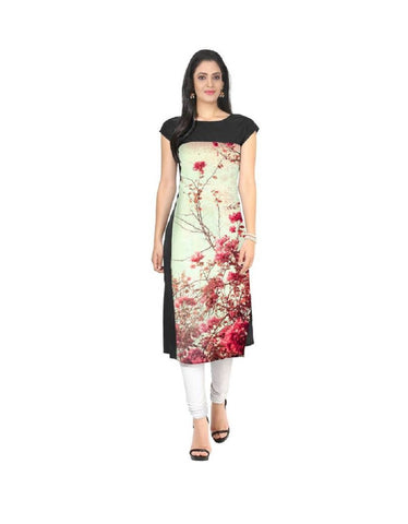 Multi Color Crepe Stitched Kurti  - live-16
