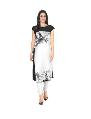 Multi Color Crepe Stitched Kurti  - live-17